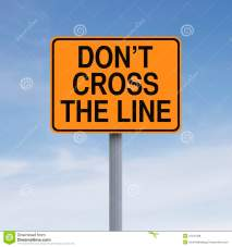 do-not-cross-line-road-sign-indicating-don-t-41447328